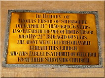 ST6316 : Sherborne Abbey: memorial (xlviii) by Basher Eyre