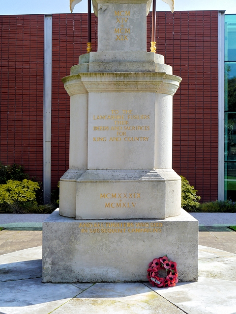 Fusiliers Memorial Inscriptions