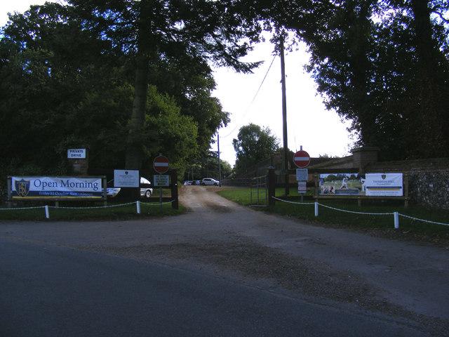 Entrance to Taverham Hall School