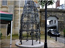 H6733 : Metal sculpture, Monaghan by Kenneth  Allen