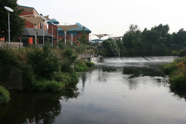 The end of the Five Weirs Walk