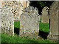 TG3103 : Old headstones in St Mary's churchyard, Rockland St Mary by Evelyn Simak