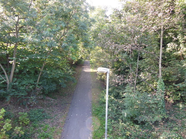 The former Hull to Hornsea railway line