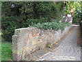 SP9211 : Cobbled Path and Old Cemetery Wall, Tring by Chris Reynolds