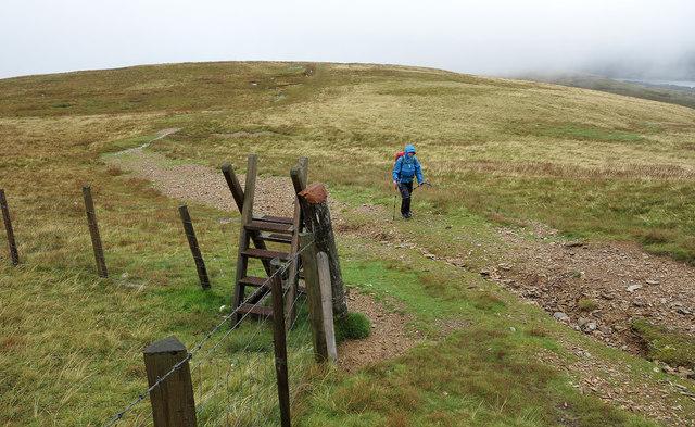 North ridge of Moel Eilio at Bryn Mawr