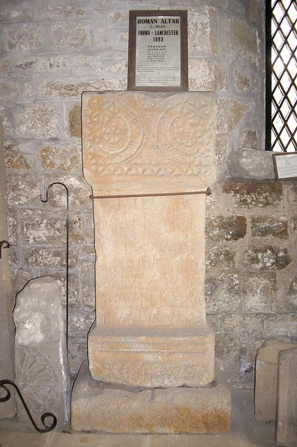 A Roman Altar (AD244) in Lanchester Church