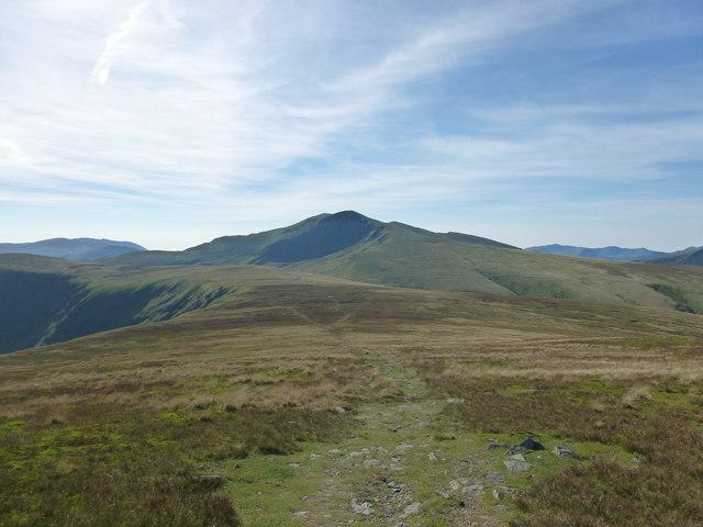 Path towards Bowscale Fell-Blencathra col