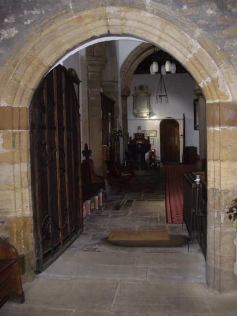 Entrance to the nave of the Parish Church, Lanchester