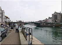 SY6778 : Weymouth, Town Bridge by Mike Faherty