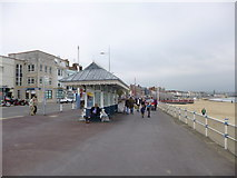 SY6879 : Weymouth, seaside shelter by Mike Faherty