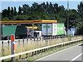 SP3186 : Fuel Service Area, Corley Services by David Dixon
