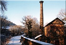 SK3155 : Leawood Pumphouse in the Snow by Des Blenkinsopp