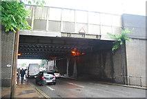 TQ2837 : Railway bridge over the A2220 by N Chadwick
