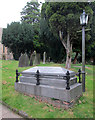SK6142 : Gedling: All Hallows - the grave of the cricketer Arthur Shrewsbury by John Sutton