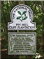 TM2137 : National Trust Sign by Keith Evans