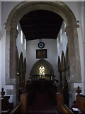 NZ1647 : Chancel Arch and Nave, Lanchester Parish church by Stanley Howe
