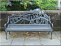NS5574 : West Highland Way bench by Thomas Nugent