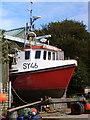 NR7387 : Fishing boat repairs at Carsaig by sylvia duckworth