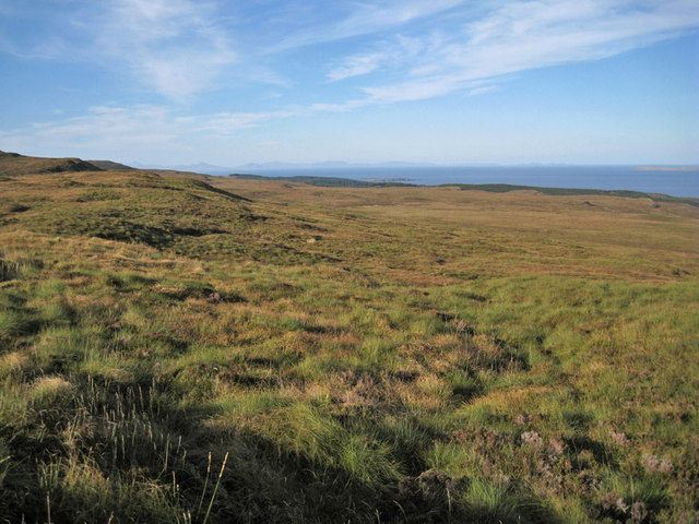 Gently sloping moorland