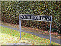 TG2503 : South Wood Drive sign by Adrian Cable