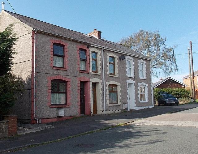 Row of three houses in Princess Street Gorseinon