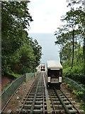 SX9265 : The cliff railway, Oddicombe beach, Babbacombe by Derek Voller