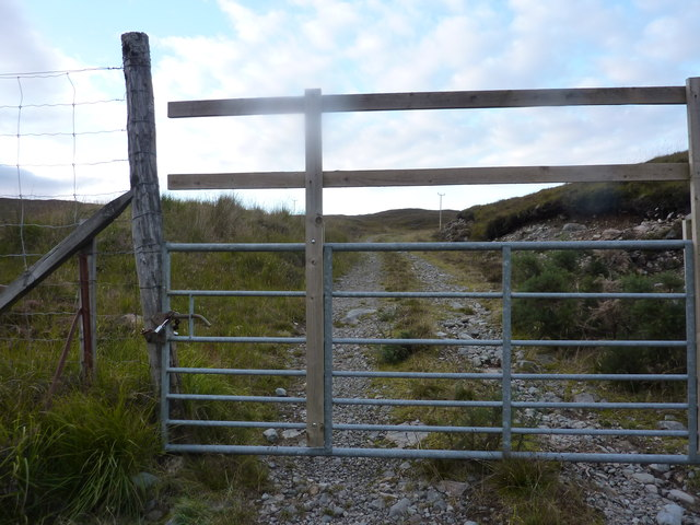 Yet another locked gate in a deer fence