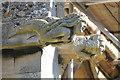 SK9654 : Mermaid Grotesque, St Chad's church, Welbourn by J.Hannan-Briggs