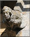 SK9654 : Carved figure, St Chad's church, Welbourn by J.Hannan-Briggs