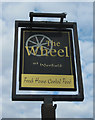 SO7695 : The Wheel at Worfield (2) - sign, near Wyken, Shrops by P L Chadwick