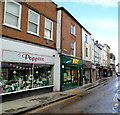 SO4959 : Southern end of High Street Leominster by Jaggery