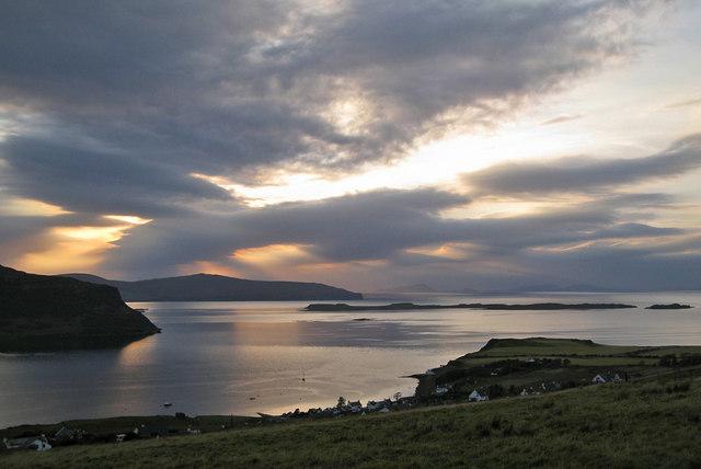 Sunset over Loch Dunvegan