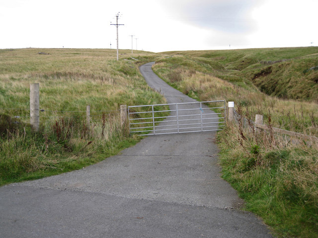 Track to the water treatment works