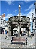 NJ9406 : Aberdeen Mercat Cross, Castlegate by kim traynor