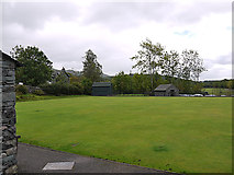 NY3204 : Elterwater bowling green by Nigel Brown