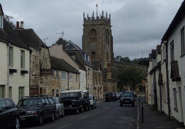 Gloucester Street and view towards the church, Winchcombe