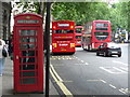 TQ3080 : London: red phone box, 1 Aldwych by Chris Downer