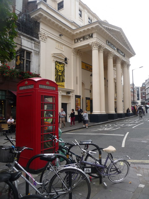 London: red phone box in Wellington Street