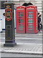 TQ3080 : London: red phone boxes, 408 Strand by Chris Downer