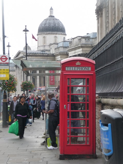 London: red phone box in Duncannon Street