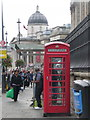 TQ3080 : London: red phone box in Duncannon Street by Chris Downer