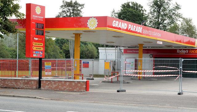 Petrol station, Grand Parade, Belfast