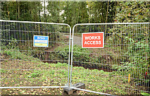 J3673 : New bridge site, Orangefield Park, Belfast (1) by Albert Bridge
