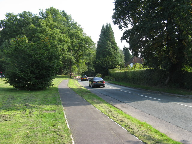 A287 Sturt Road on the southern edge of Haslemere