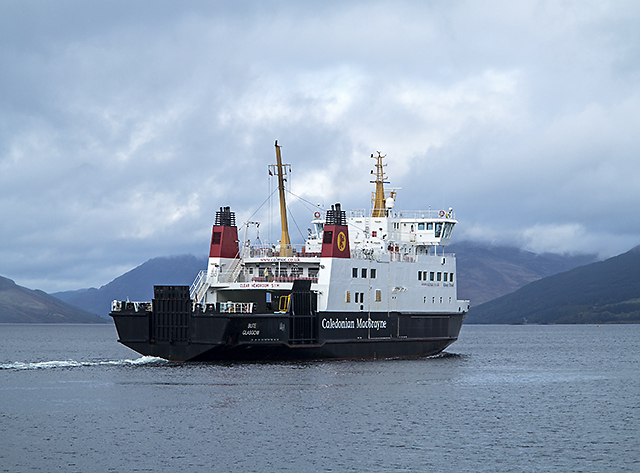 Calmac ferry departing from Rothesay