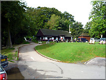 TQ2652 : Reigate Hill:  Cafe at Wray Lane Head by Dr Neil Clifton