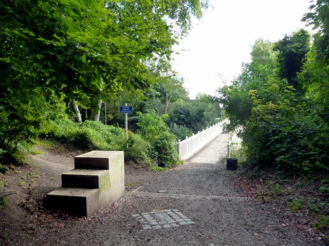 Reigate Hill:  footbridge over the A217
