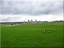 SU1242 : Stonehenge, from a distance by Mike Faherty