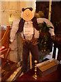 TQ8438 : Scarecrow at All Saints Church, Biddenden by Marathon