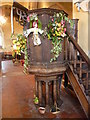 TQ8438 : The pulpit at All Saints Church, Biddenden by Marathon